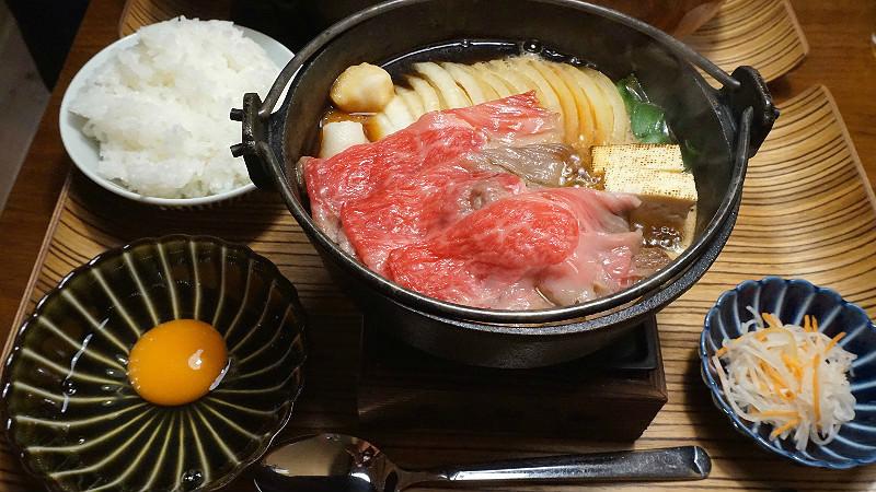 The Sukiyaki set menu