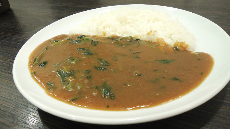 Vegetarian curry with spinach