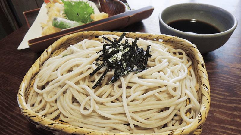 天婦羅冷蕎麥麵(天ざる)