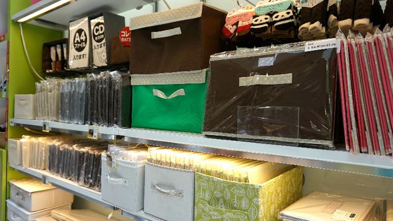 各種顏色的收納盒