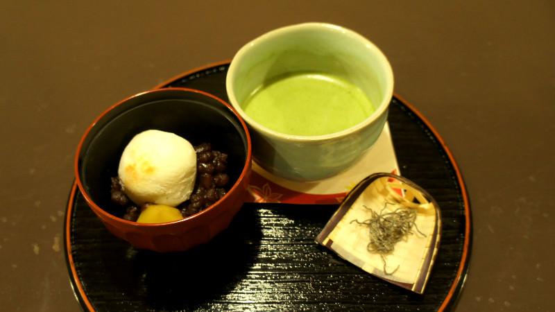Powdered green tea Zenzai