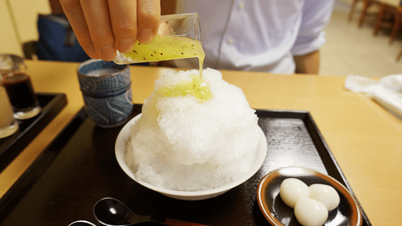 Shaved ice Five Kinds of syrup