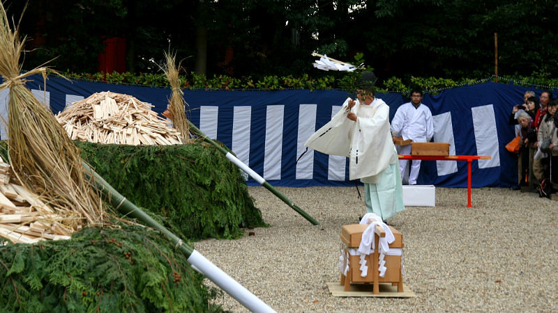 火焚祭前的淨化儀式