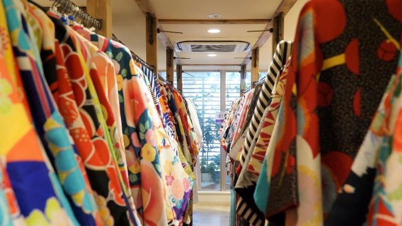 All kinds of kimonos