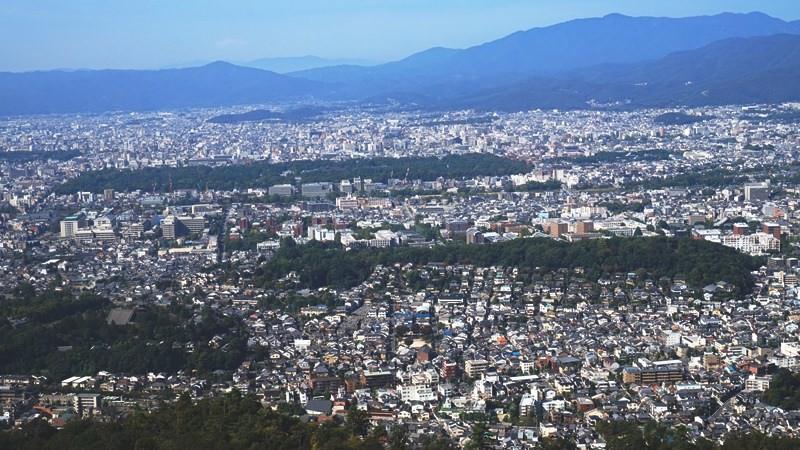 從山頂眺望美麗的風景