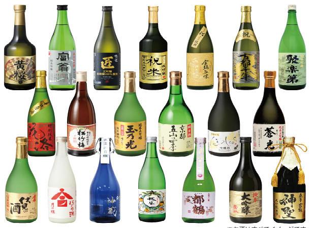 比較各種京都清酒的味道