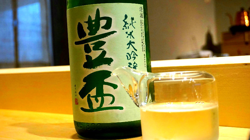 The shop's recommended sake