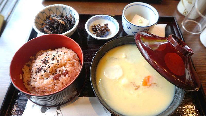 Kyoto's zoni soup with mochi
