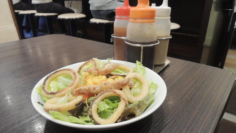 Fried calamari salad (Cuttlefish salad)