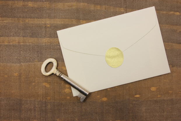 封筒の閉じ方のポイント