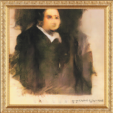 CHRISTIE AIの描いた肖像画「Edmond de Belamy, from La Famille de Belamy」