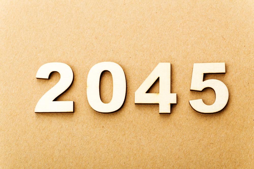 2045の文字