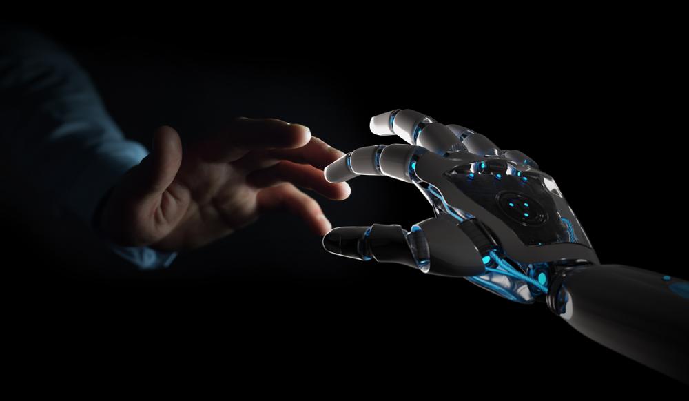 人の手とロボットの手
