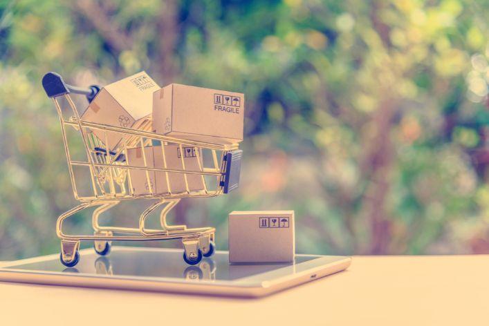 ショッピングカートの模型