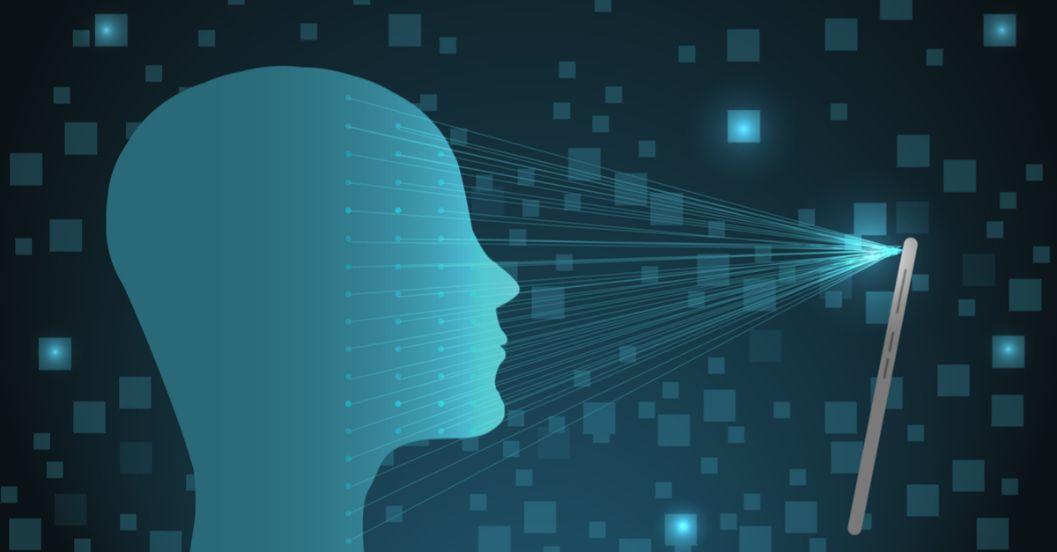 コンピューターが人の顔を認識する様子