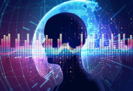 AIと音声認識が連携するイメージ画像