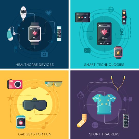 様々な形状のウェアラブルデバイス