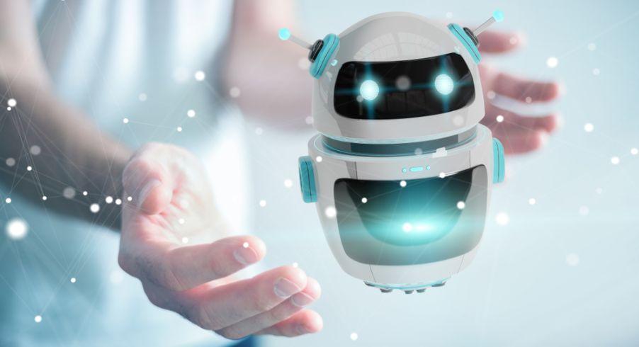 両手のひらに治る小型のロボット