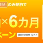 楽天モバイル、通話SIM契約で月額基本料1,000円×6ヶ月割引キャンペーン開始
