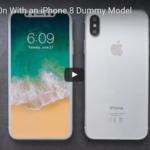 iPhone8用ケースを装着すると端から端までの表示はどうなるのかの検証動画公開