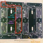 A11チップとIntel ModemがマーキングされたiPhone 7s Plusと思われる基盤情報が流出