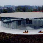 Apple Parkの9月5日時点のドローン動画が公開。Steve Jobs Theatreのロビーも撮影