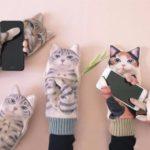 猫がジャマするスマホ対応「ジャマ猫手袋」予約開始
