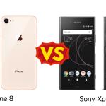 Xperia XZ1 と iPhone 8 を比較してみた