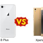 Sony Xperia XA1 と iPhone 8 Plusを比較してみた