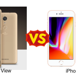 Wiko View と iPhone 8 を比較してみた