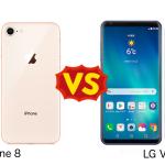 LG V30+ と iPhone 8 を比較してみた