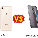 Motorola Moto G5S と iPhone 8 を比較してみた