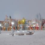 ため息が出るほどの雪景色のディスニーランドの幻想的な写真