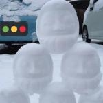 雪だるま 作ろ〜、、ユキダルマ?