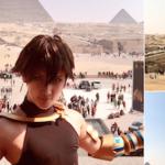 コスプレイヤー、ついに背景にまでこだわってエジプトへ
