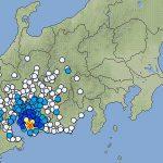 愛知県西部の地震、1回目と3回目は全く同じ場所で発生