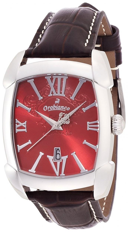 オロビアンコのレザー腕時計レッタンゴレラ