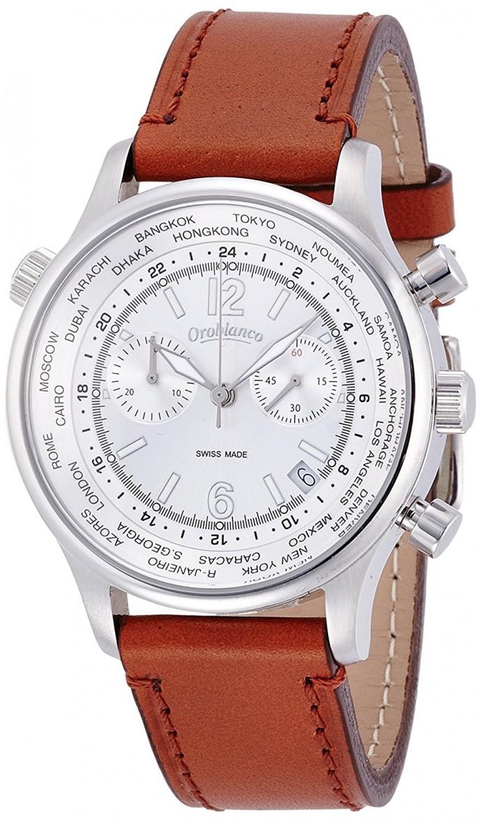 オロビアンコのレザーベルト腕時計マルサラ