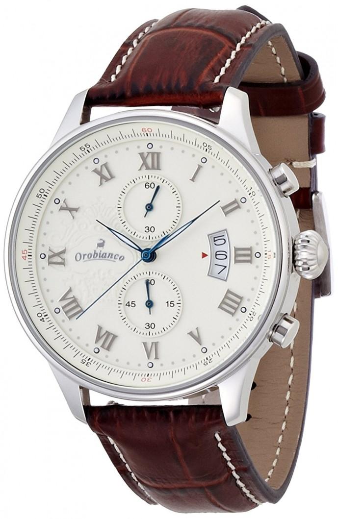 オロビアンコのレザーベルト腕時計エレット