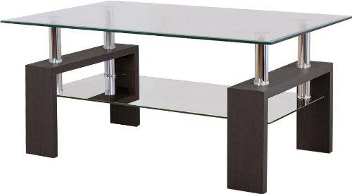 おしゃれな2段ガラステーブル