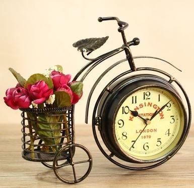 ビンテージ自転車風のおしゃれ置き時計