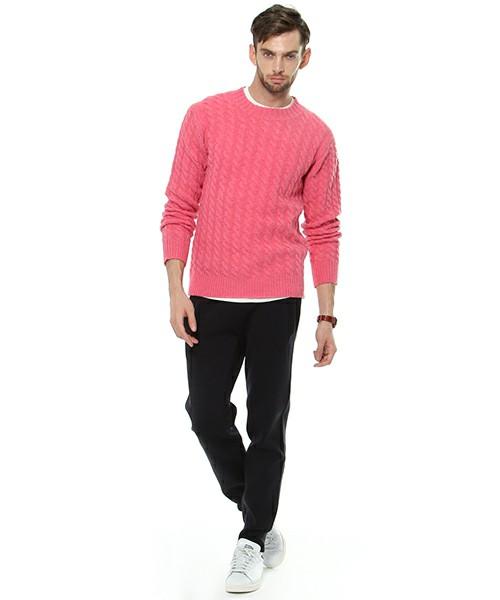 ピンクセーター