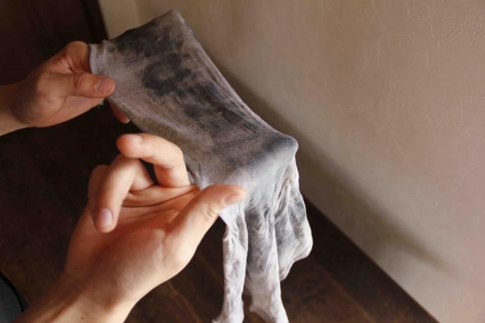 靴を磨く時の布の巻き方