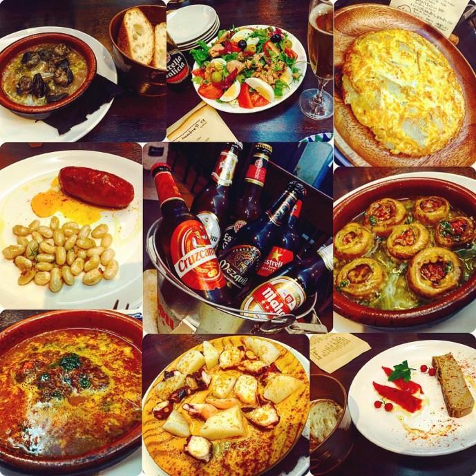 スペイン料理店のパエジャ