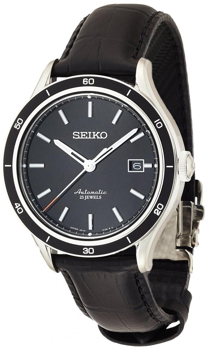 黒皮レザーの腕時計