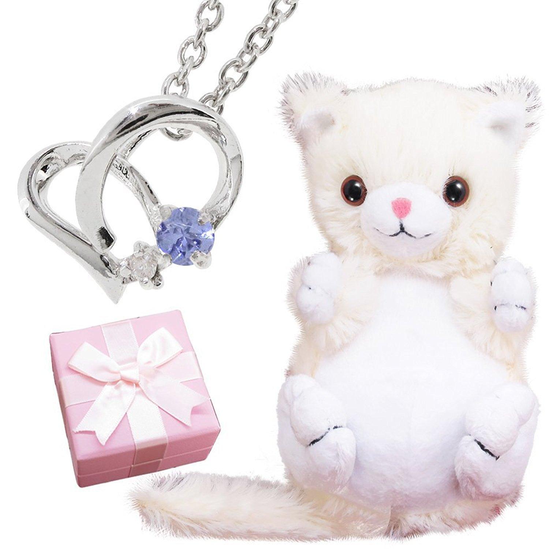 クリスマスに贈りたいネックレスとぬいぐるみのペアセット