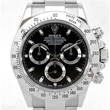 有名ブランドのロレックスデイトナブラックの腕時計