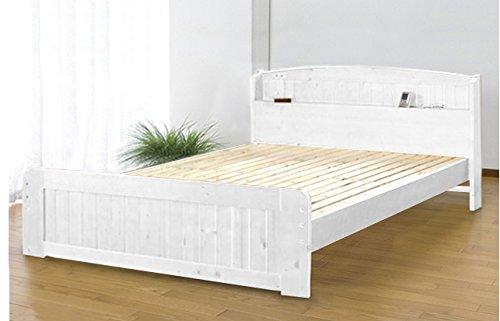 J-Supply 天然木パイン材棚付きすのこベッド