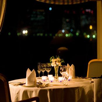 東京湾クルーズのディナー