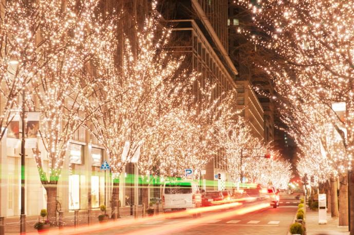 クリスマスならではのイルミネーション